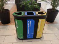 """Урны для раздельного сбора мусора """"Акцент-3"""" с наклейками"""
