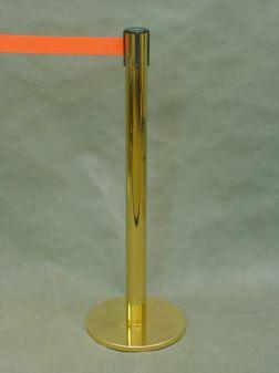 Стойка с напылением под золото с лентой  Tensator 3,6 м